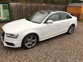 Audi A4 sline in white 40000 from new