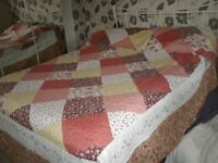 DOUBLE BED COVER AND PILLOW SLIPS