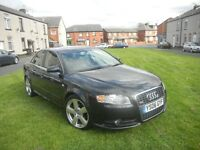 AUDI A4 2.0 TDI S LINE 06 REG BLACK FULL LEATHER&SERVICE HISTORY TIMING BELT REPLACED