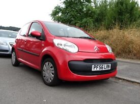Citroen C1 in Red, 56 Plate, Low Mileage, 1 Previous Owner