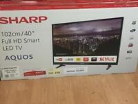 New Sharp Smart Hd Tv + official year warranty