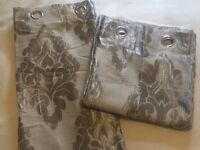 Silver damask curtains