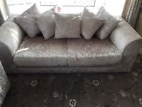 Crush velvet sofa