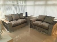 Silver crush sofas 3+2 bargain