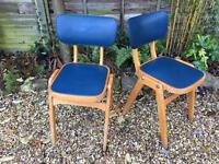 Vintage Pair of 1950s chairs - retro