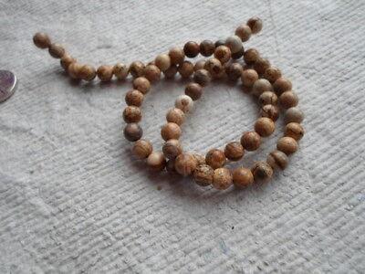"16"" Strand of Picture Jasper Round Beads ~ 6mm"