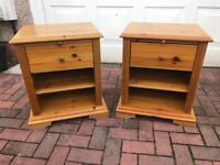 Pine / solid pine bedside / livingroom chest of drawers