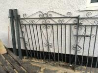 Galvenized double gates like new