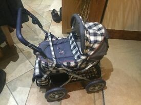 Child's Silver Cross dolls pram