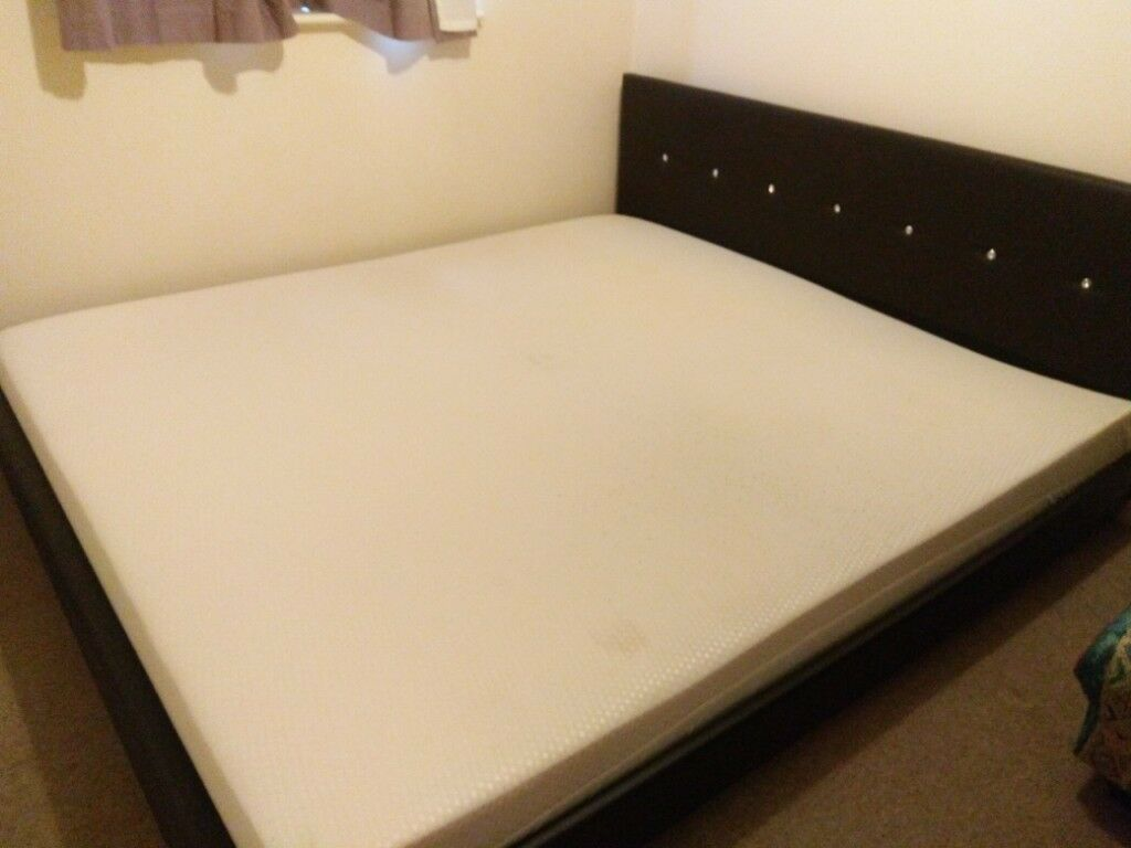 6ft Super King Size Bed Frame And Latex Mattress In York North