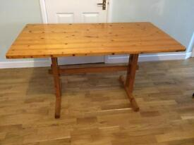 Wooden pine table for shabby chic project