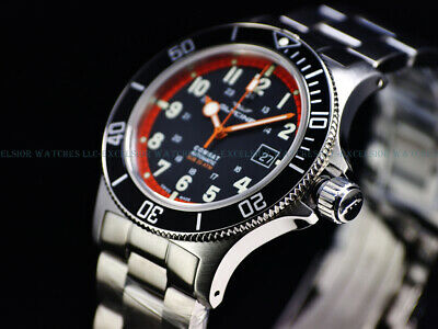 NEW GLYCINE 42MM COMBAT SUB SWISS AUTOMATIC SAPPHIRE DIVER WATCH, GL0249, 3908