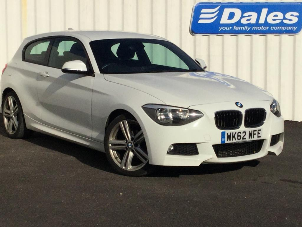 bmw 1 series 118d m sport 3dr step auto white 2012 in. Black Bedroom Furniture Sets. Home Design Ideas