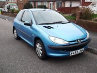 PEUGEOT 206 AUTOMATIC 1400 THREE DOOR HATCHBACK