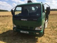 2008 Isuzu NQR 70 7.5 tonne dropside with front mounted crane