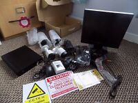 ANNKE security system.+ monitor x4 bullet cameras & signage.