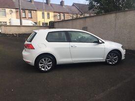 WHITE VW GOLF 2013 SE - BLUEMOTION TECH 3 DOOR DIESEL