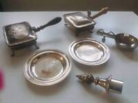 Joblot of antique silver plate pieces
