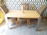 Oak Veneer Dining Table ONLY