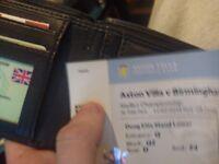 Aston villa ticket Birmingham city away