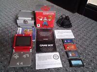 Game Boy Advance SP Mario limited edition pak