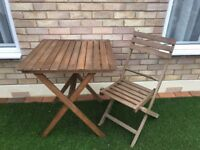 Table and chair for garden - Good Condition