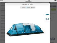 Royal Atlanta 8 Berth Tent + Front Awning