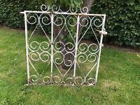 White coloured steel gate