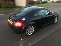 Audi TT Quattro Coupe 1.8 T , BLACK , FULL SERVICE HISTORY, 12 Months MOT, @£1750