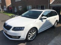 Skoda Octavia Elegance TDI CR S - white, panoramic sunroof, leather interior