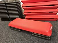 8 x Bodymax Commercial Quality Fitness Steps with 16 Risers - Mint!