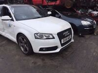 AUDI A3 S3 RS3 BLACK EDITION 2008-2012 BREAKING SPARES TDI DOORS ALLOYS AIRBAG