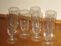 Crystal Cut Glass Wine Goblets.