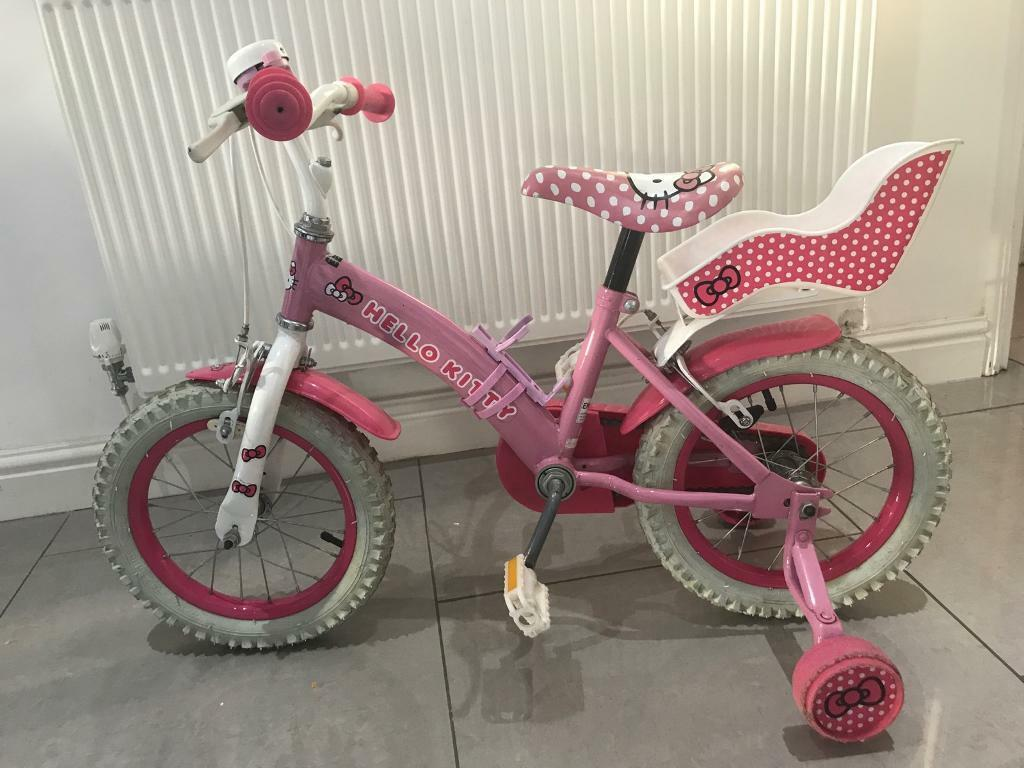 Girls Hello Kitty Bike & helmet