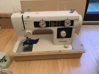 New Home electric sewing machine model 632 with carry case