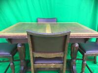 Extending oak dining table and 4 chairs FREE DELIVERY FRIDAY