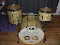 SJC drum kit shellpack fully cased (PRICEDROP)