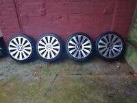 "18"" inch 5x112 5x100 alloy wheels rs8 VW AUDI multistud"