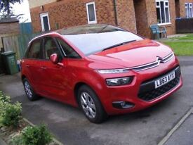 63 REG, 2014 YEAR NEW SHAPE CITROEN C4 PICASSO 1.6 HDI, MANUAL, VTR+, ONLY 35500 MILES, CAT. D FSH