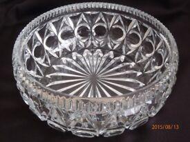 Vintage 1940s cut glass fruit bowl