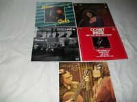 Jazz Blues. 33 rpm. Joblot of 5. Peterson, Basie, Getz, Laine.