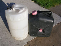 waste water container and fresh water barrel