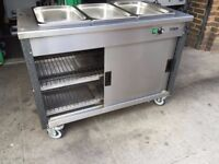 CATERING COMMERCIAL HOT BAIN MARIE UNDER HOT CUPBOARD CAFE KEBAB CHICKEN RESTAURANT TAKE AWAY SHOP