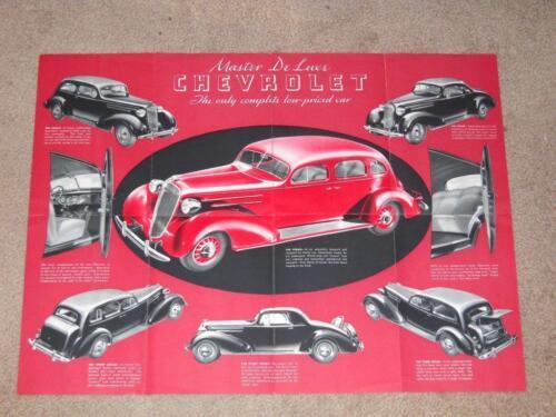 1936 Chevrolet Master Deluxe Sales Brochure - Nice Original