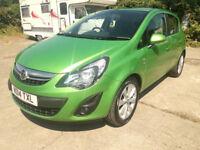 2014/14 Vauxhall Corsa 1.2 Excite, 44k, Green, 5 door, FSH, New MOT, cheap insurance, excellent