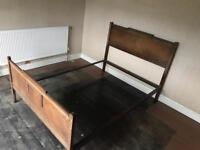 Antique Retro Double Bed Frame with slats