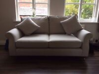 Next Ashford Medium Sofa in Wool Blend Stone Fabric RRP £825