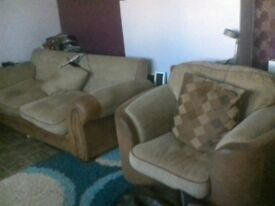lovely comfy sofa and cuddle chair