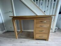 Solid Oak Desk - Oak Furniture Land