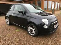 Fiat 500 1.2i Pop in Black. Just 20,000 miles